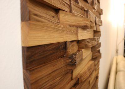 Drevený obklad WALNUT štiepaný orech r3
